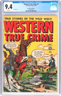 Western True Crime #3 - Mile High Pedigree (Fox Features Syndicate, 1948) CGC NM 9.4 White pages