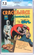Golden Age (1938-1955):Superhero, Crackajack Funnies #36 (Dell, 1941) CGC VF- 7.5 Off-white to white pages....