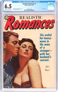 Golden Age (1938-1955):Romance, Realistic Romances #1 (Avon, 1951) CGC FN+ 6.5 Off-white to white pages....