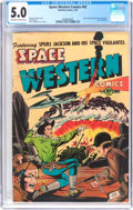 Golden Age (1938-1955):Science Fiction, Space Western #42 (Charlton, 1953) CGC VG/FN 5.0 Off-white to whitepages....