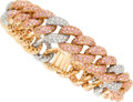 Estate Jewelry:Bracelets, Diamond, Pink Sapphire, Gold Bracelet . ...