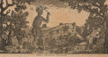 """Military & Patriotic:Indian Wars, Battle of the Wabash (St. Clair's Defeat): """"Death of General Butler"""" Print. ..."""