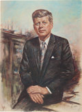Political:Posters & Broadsides (1896-present), John F. Kennedy: Large Print in Pastel Colors, After From-Life Portrait by Lupas. ...