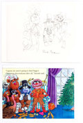 Animation Art:Concept Art, Fozzie Bear, Gonzo, and Animal Original, Signed SesameStreet Children's Book Art (Jim Henson Publishing, 1999)....