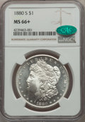 Morgan Dollars: , 1880-S $1 MS66+ NGC. CAC. NGC Census: (11923/3516 and 343/118+). PCGS Population: (11143/2526 and 502/316+). MS66. Mintage ...