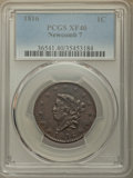 Large Cents, 1816 1C N-7, R.3, XF40 PCGS. PCGS Population: (2/7). NGC Census: (1/6). XF40. ...