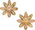 Estate Jewelry:Earrings, Retro Gold Earrings, Cartier  The 14k rose and...
