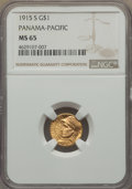 Commemorative Gold, 1915-S G$1 Panama-Pacific Gold Dollar MS65 NGC. NGC Census:(764/590). PCGS Population: (1293/894). CDN: $1,000 Whsle. Bid ...
