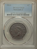 Large Cents, 1824 1C N-3, R.2, VF25 PCGS. PCGS Population: (1/9). NGC Census: (0/13). Mintage 1,262,000. ...