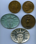 20th Century Tokens and Medals, A Five-Piece Lot of A.N.S. Medals. 1908 Archer Milton Huntington, Miller-18, 68 mm, bronze, plain edge; 1910 Membership Me... (Total: 5 medals)