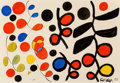 Works on Paper, Alexander Calder (1898-1976). Black is Dominant, 1969. Gouache and ink on paper. 29-1/2 x 43-1/8 inches (74.9 x 109.5 cm...