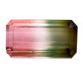 Gems:Faceted, Gemstone: Bicolor Tourmaline - 12.98 Cts.. Brazil. ...