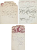 "Advertising:Paper Items, William F. ""Buffalo Bill"" Cody's Wild West: Three Early 1885-1886Letterheads with Great Content Letters. ... (Total: 3 Items)"