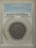 Large Cents, 1816 1C VF25 PCGS. N-2, R.1....