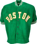 Basketball Collectibles:Uniforms, Early to Mid-1960's Bill Russell Game Worn Boston Celtics Warm-Up Jacket.. ...
