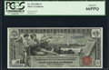 Large Size:Silver Certificates, Fr. 224 $1 1896 Silver Certificate PCGS Gem New 66PPQ.. ...