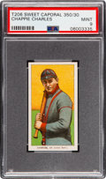 Baseball Cards:Singles (Pre-1930), 1909-11 T206 Sweet Caporal 350/30 Chappie Charles PSA Mint 9 - Pop One, None Higher! ...