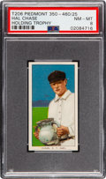 Baseball Cards:Singles (Pre-1930), 1909-11 T206 Piedmont 350-460/25 Hal Chase (Holding Trophy) PSA NM-MT 8 - Pop Two, None Higher! ...