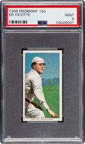 Baseball Cards:Singles (Pre-1930), 1909-11 T206 Piedmont 350 Ed Cicotte PSA Mint 9 - Pop Two, None Higher! ...