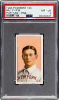 Baseball Cards:Singles (Pre-1930), 1909-11 T206 Piedmont 150 Hal Chase (Portrait-Pink) PSA NM-MT 8 - Pop Three, None Higher! ...
