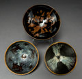 Asian:Chinese, Three Chinese Jizhou Ceramic Tea Bowls. 2-1/2 inches high x 5-7/8inches diameter (6.4 x 14.9 cm) (largest). ... (Total: 3 Items)