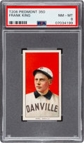 Baseball Cards:Singles (Pre-1930), 1909-11 T206 Piedmont 350 Frank King PSA NM-MT 8 - Pop Two, NoneHigher!. ...