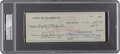 Football Collectibles:Others, 1959 Vince Lombardi & Emlen Tunnell Signed Green Bay Packers Check PSA/DNA Authentic. ...