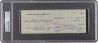 1959 Vince Lombardi & Emlen Tunnell Signed Green Bay Packers Check PSA/DNA Authentic