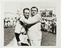 Baseball Collectibles:Photos, 1939 Lou Gehrig Farewell Ceremony with Babe Ruth Photograph, PSA/DNA Type 2....