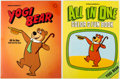 Animation Art:Production Cel, Yogi Bear All in One Book Mock-Up Cover Cel and Print (Hanna-Barbera, c. 1980s).... (Total: 2 Items)