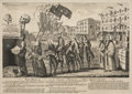 "Military & Patriotic:Revolutionary War, Revolutionary War: ""The Repeal, Or the Funeral Procession of Miss Americ-Stamp"" Important Repeal of the Stamp Act Cartoon...."
