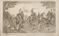 Military & Patriotic:Pre-Civil War, War of 1812: Dramatic Engraving of the Battle of the Thames....