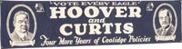 Hoover & Curtis: Rare Large Jugate Cloth Banner in Choice Condition