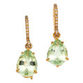 Estate Jewelry:Earrings, Diamond, Peridot, Gold Earrings, Mish NY. ...