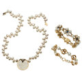 Estate Jewelry:Lots, Diamond, Sapphire, Mother-of-Pearl, Cultured Pearl, Gold Jewelry.... (Total: 3 Items)