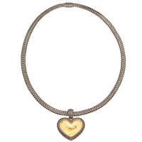John Hardy Gold, and Sterling Silver, Pendant-Necklace