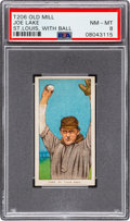Baseball Cards:Singles (Pre-1930), 1909-11 T206 Old Mill Joe Lake (St. Louis-With Ball) PSA NM-MT 8 -Pop Six, None Higher. ...