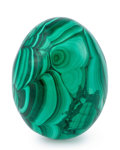Lapidary Art:Eggs and Spheres, Malachite Egg. Democratic Republic of the Congo. 2.53 x 1.92 inches (6.43 x 4.87 cm). ...