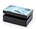 Lapidary Art:Boxes, Larimar Box. Stone Source: Dominican Republic. Artist: Konstantin Libman. 3.94 x 2.74 x 1.57 inches (10.00 x 6.95 x 4.00 c...
