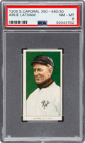 Baseball Cards:Singles (Pre-1930), 1909-11 T206 Sweet Caporal 350-460/30 Arlie Latham PSA NM-MT 8 - Pop Two, None Higher! ...