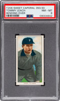 Baseball Cards:Singles (Pre-1930), 1909-11 T206 Sweet Caporal 350/30 Tommy Leach (Bending Over) PSA NM-MT 8 - Pop One, None Higher! ...