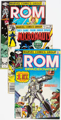 Modern Age (1980-Present):Science Fiction, Micronauts/Rom Box Lot (Marvel, 1979-85) Condition: AverageFN/VF....