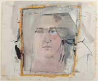 Larry Rivers (1923-2002) Clarice with a Blue Eye: The Artist's Wife, 1961 Pencil, gouache, and tape