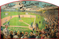 Baseball Collectibles:Others, Circa 1910 Piedmont Cigarettes Oversized Tri-Fold Advertising Sign.. ...