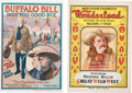 """Miscellaneous:Booklets, William F. """"Buffalo Bill"""" Cody and Gordon """"Pawnee Bill"""" Lillie: Colorful Souvenir Book and Program. ... (Total: 2 Items)"""