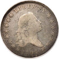 1794 50C O-101a, T-7, High R.3 -- Tooled, Reverse Graffiti -- NCS. Good Details....(PCGS# 39201)