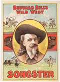 """Miscellaneous:Booklets, William F. """"Buffalo Bill"""" Cody: Scarce 1896-dated Song Book...."""