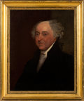 Political:3D & Other Display (pre-1896), John Adams: Unsigned 19th Century Portrait....