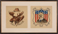 Political:Textile Display (1896-present), Theodore Roosevelt: Dynamic Multi-Media Textile Display/Banner....