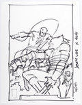 Original Comic Art:Miscellaneous, John Romita Jr. Wolverine V3#24 Unused Cover Preliminary Artwork Daredevil and Elektra Original Art (Marvel, 2006)...